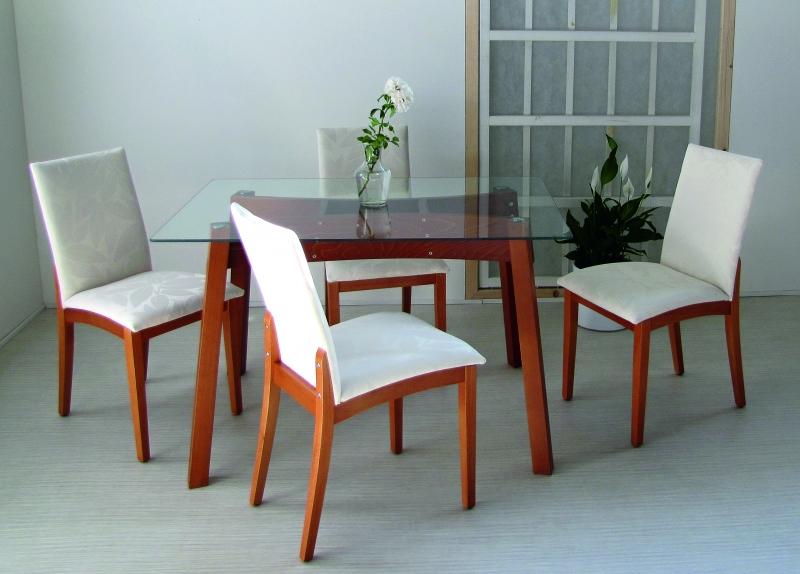 Stôl CAPKO, stolička SEVEN - čalúnená